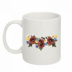 Кружка 320ml Украинские цветы - FatLine