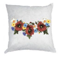 Подушка Украинские цветы - FatLine