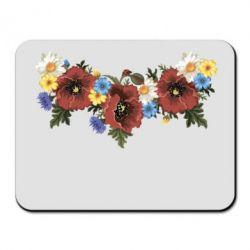 Коврик для мыши Украинские цветы - FatLine