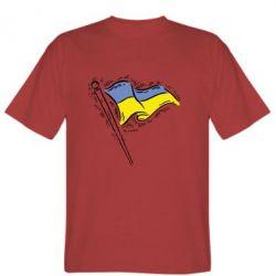 Мужская футболка Украинский флаг