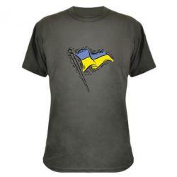 Камуфляжная футболка Украинский флаг
