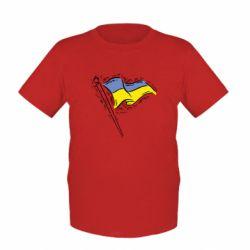 Детская футболка Украинский флаг