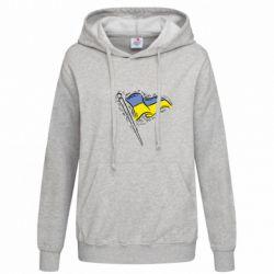 Женская толстовка Украинский флаг