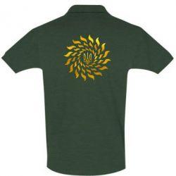 Футболка Поло Украинский герб-солнце Голограмма