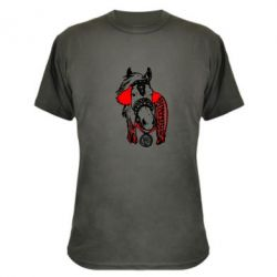 Камуфляжная футболка Українській кінь - FatLine
