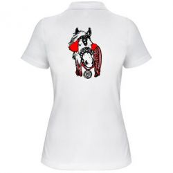 Женская футболка поло Українській кінь - FatLine
