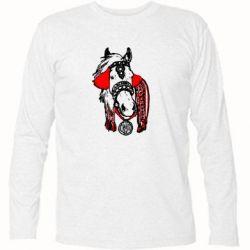 Футболка с длинным рукавом Українській кінь - FatLine