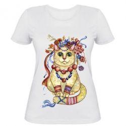 Женская футболка Украинский кот