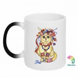 Кружка-хамелеон Украинский кот