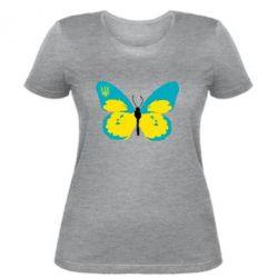 Женская футболка Український метелик - FatLine