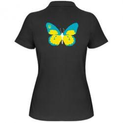 Женская футболка поло Український метелик - FatLine