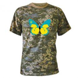 Камуфляжная футболка Український метелик - FatLine