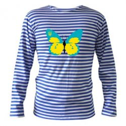 Тельняшка с длинным рукавом Український метелик - FatLine