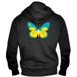 Мужская толстовка на молнии Український метелик - FatLine
