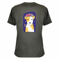 Камуфляжна футболка Український пес