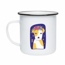 Кружка емальована Український пес