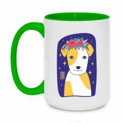 Кружка двоколірна 420ml Український пес