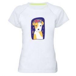 Жіноча спортивна футболка Український пес