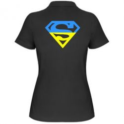 Женская футболка поло Український Superman - FatLine