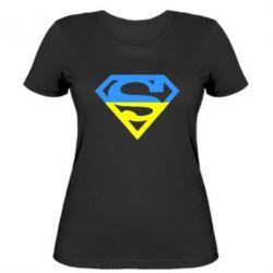 Женская футболка Український Superman - FatLine