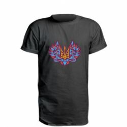 Подовжена футболка Український тризуб арт
