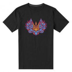 Чоловіча стрейчева футболка Український тризуб арт