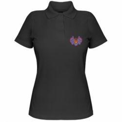 Жіноча футболка поло Український тризуб арт