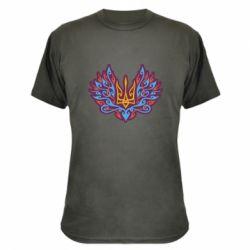 Камуфляжна футболка Український тризуб арт