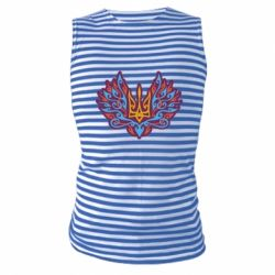 Майка-тільняшка Український тризуб арт