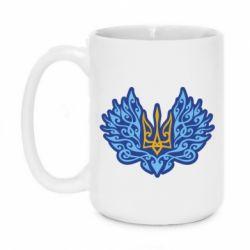 Кружка 420ml Український тризуб арт