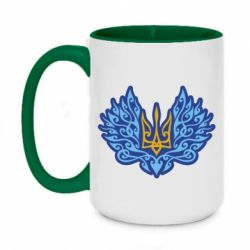 Кружка двоколірна 420ml Український тризуб арт