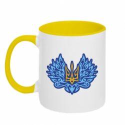 Кружка двоколірна 320ml Український тризуб арт