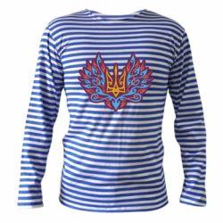 Тільник з довгим рукавом Український тризуб арт