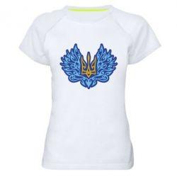 Жіноча спортивна футболка Український тризуб арт