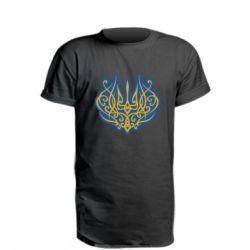Подовжена футболка Український тризуб монограма