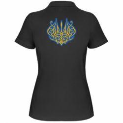 Жіноча футболка поло Український тризуб монограма