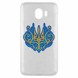 Чохол для Samsung J4 Український тризуб монограма