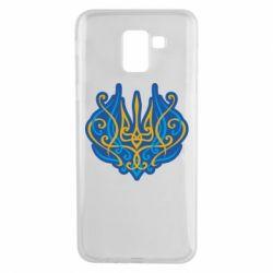 Чохол для Samsung J6 Український тризуб монограма