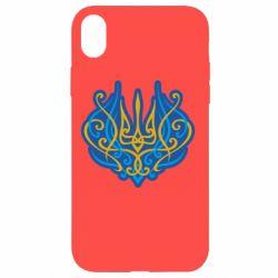 Чохол для iPhone XR Український тризуб монограма
