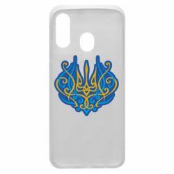 Чохол для Samsung A40 Український тризуб монограма