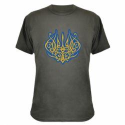 Камуфляжна футболка Український тризуб монограма