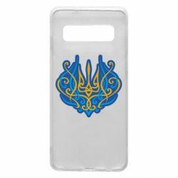 Чохол для Samsung S10 Український тризуб монограма