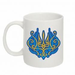 Кружка 320ml Український тризуб монограма