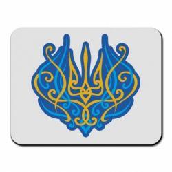 Килимок для миші Український тризуб монограма