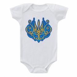 Дитячий бодік Український тризуб монограма
