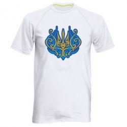 Чоловіча спортивна футболка Український тризуб монограма