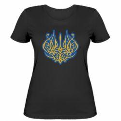 Жіноча футболка Український тризуб монограма