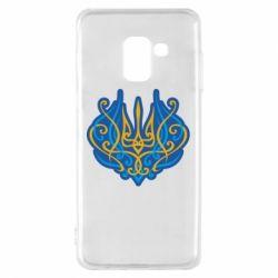 Чохол для Samsung A8 2018 Український тризуб монограма
