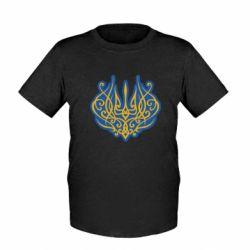 Дитяча футболка Український тризуб монограма
