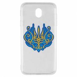 Чохол для Samsung J7 2017 Український тризуб монограма